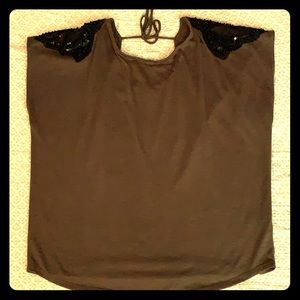 Blouse with beautiful shoulder embellishments